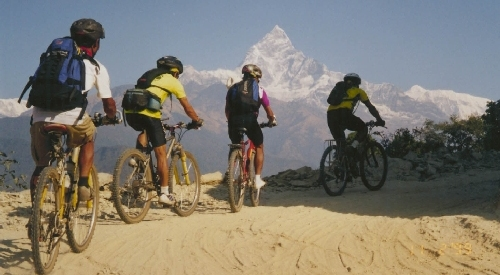 Mountain Biking Nepal Photo